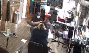 Lady Tumbles to the Floor as Tattoo Table Collapses
