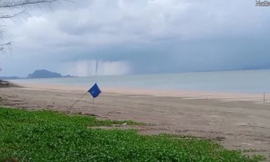 Waterspouts Forming Near Beach