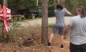 Tree Makes a Bad Piñata For Blindfolded Birthday Boy