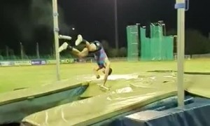 Pole Vault Attempt Leads to Unexpected Snap