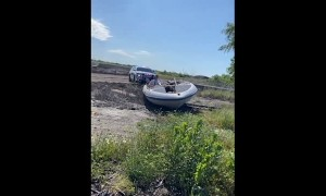 Abandoned Boat Gets Pulled Over