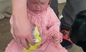 Little Girl Has Food Frustrations