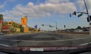 Truck T-Bones Car in LA Intersection