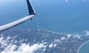 Plane Passenger Records Rocket Launch From a Different Perspective