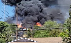 Local Fire and Explosion in Martinez Catches Power Pole