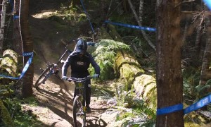 Mountain Biker Tripped Up By Tree Branch