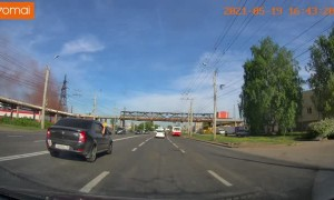 Car Flips From Changing Lanes Too Fast