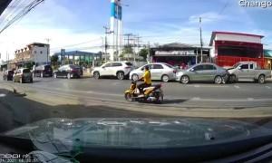 Six Car Rear End Accident