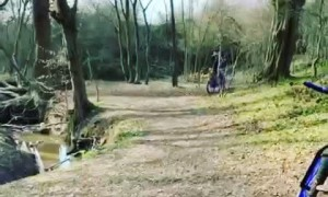 Cycling Boy Biffs It over Handlebars