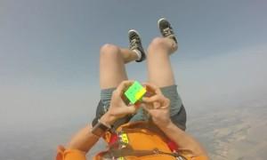 Skydiver Amazingly Solves Rubik's Cube While Free-Falling