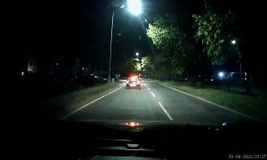 Wrong Way One-Way Driver Plays Bumper Cars