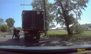 Motorcycle Somersaults Away From Rider