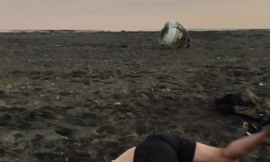 Attempted Gainer Flip Ends With Face Full Of Sand
