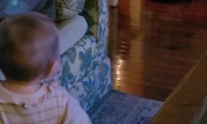 Girl Runs Away After Waking up Roomba