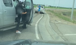 Car Rammed During Road Rage Incident