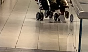Kid in Stroller Likes Tipping Over
