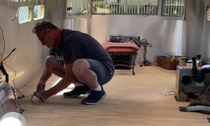 Wife Pranks Working Husband with Remote Control Snake