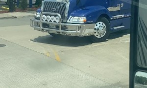 Tricked Out Semi-Truck With Spinners
