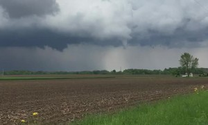 Forming Tornado Reaches Towards the Ground
