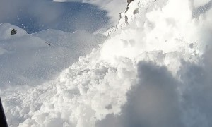 Skier Dragged Down the Mountain by an Avalanche