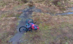 Slick Trail Leaves Cyclist Soaked