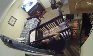 Baby's Leg Lodged in Crib