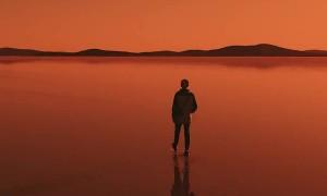 Lake Gairdner at Sunset
