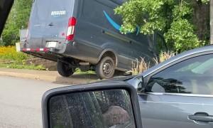Runaway Van Rolls Off Road