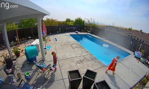 Siblings Save Brother After He Sneaks Into the Pool
