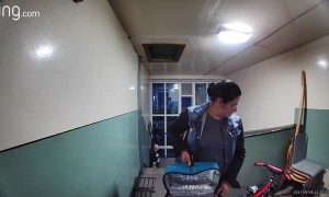 Food Delivery Driver Helps Herself to Air Freshener