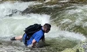 Man Slips into Rushing Montana River