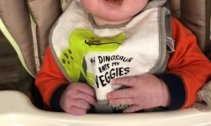 Boy Gives Honest Opinion of Green Beans
