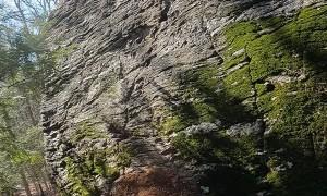 Nose Wheelie Down Steep Rock