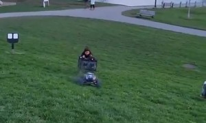 Wipeout for Kid Pulled by RC Car