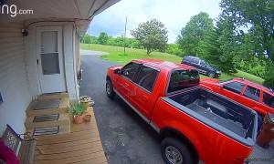 Cops Chase SUV Through Yard