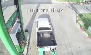 Teamwork Accidentally Takes Truck from Pump to Ditch