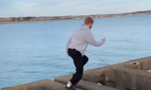 Daredevil runs with ease across unfinished bridge