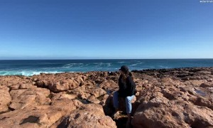 Rogue Wave Jumps Cliff to Surprises Onlookers