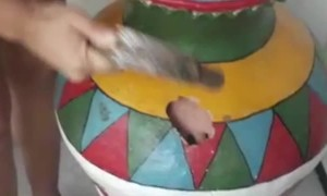 Curiosity Leads to Being Caught Inside Giant Jar
