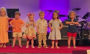 Kid at School Program Makes Crowd Laugh