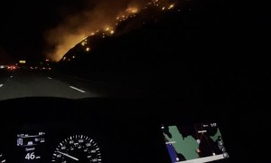 Fire Spread Along the Grapevine 5 Freeway