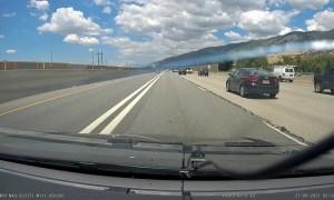 Calm Driver Dodges Car Crash