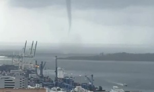 Tornado Forms Near Port of Miami