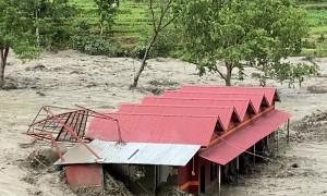Huge Flood in Melamchi, Nepal, Destroys Resort