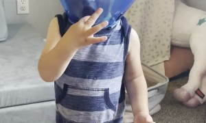 Biting Toddler Given Cone of Shame