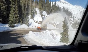 Driving Under a Snow Plow's Spray