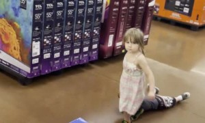 Sister Drags Cranky Brother Through Store