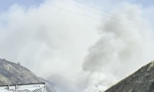 Grapevine Fire Burns Near Cars