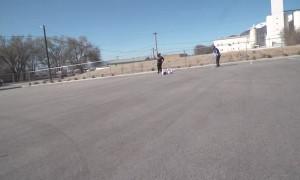 Bowling Trick Shot Nails Pins across the Lot