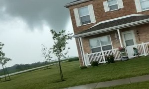 Tornado Touches Down as Residents Evacuate